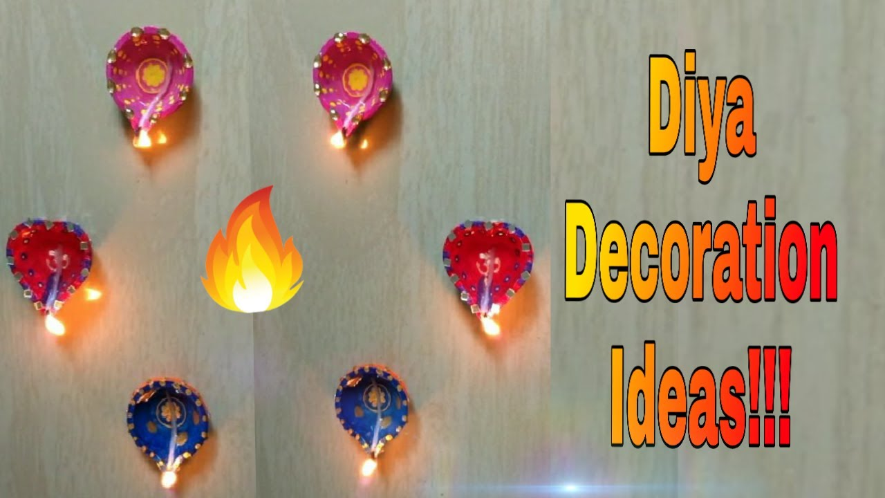 3 Simple Diya Decorations🔥!!! New Karthigai Deepam ...