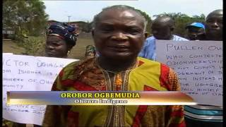 indigenes of ohonre community protest activities of chief victor ugiagbe