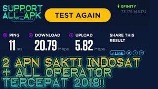 Mantap!! 2 APN Sakti INDOSAT + All Operator Tercepat 2018   Support All TKP