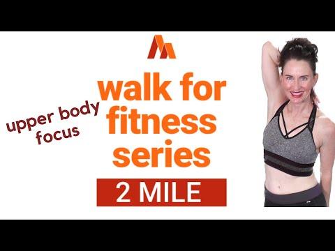 50 MINUTE WORKOUT| POWER WALK 2 MILES + UPPER BODY SCULPT| WALKING EXERCISE VIDEO| INDOOR WALK |AFT