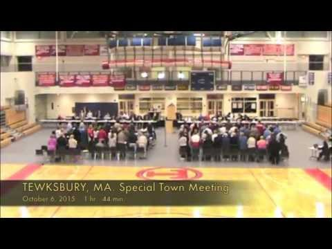Tewksbury, MA: Special Town Meeting: October 6, 2015: Part 5 of 5