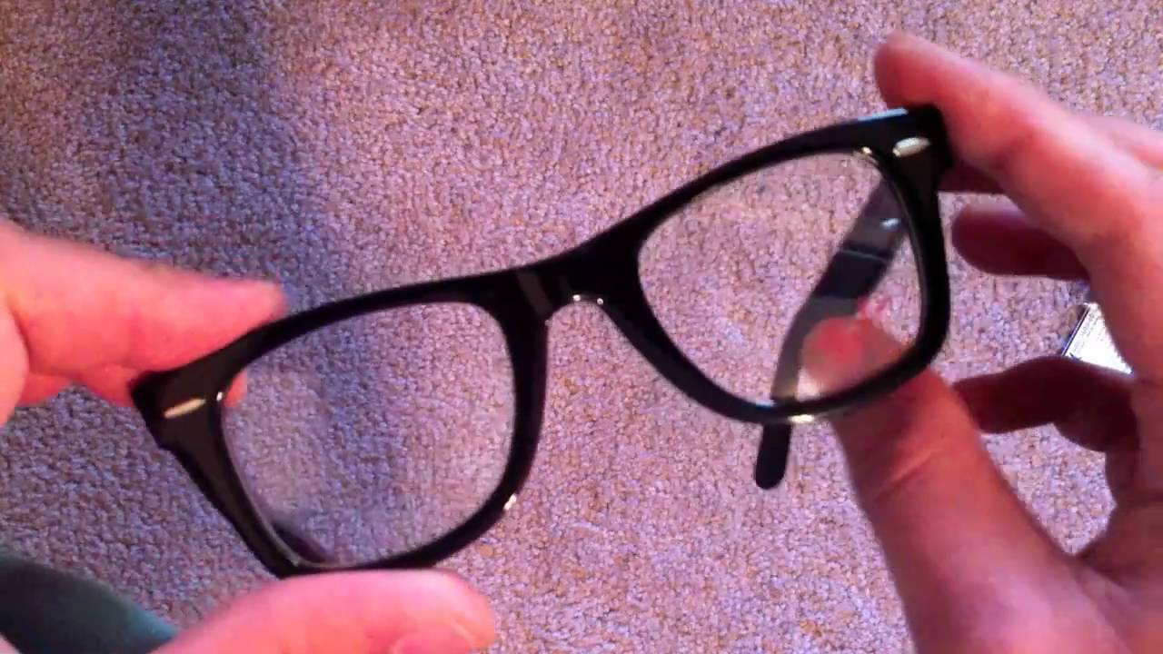 Unboxing: Ray-Ban Wayfarer Optical Glasses - YouTube