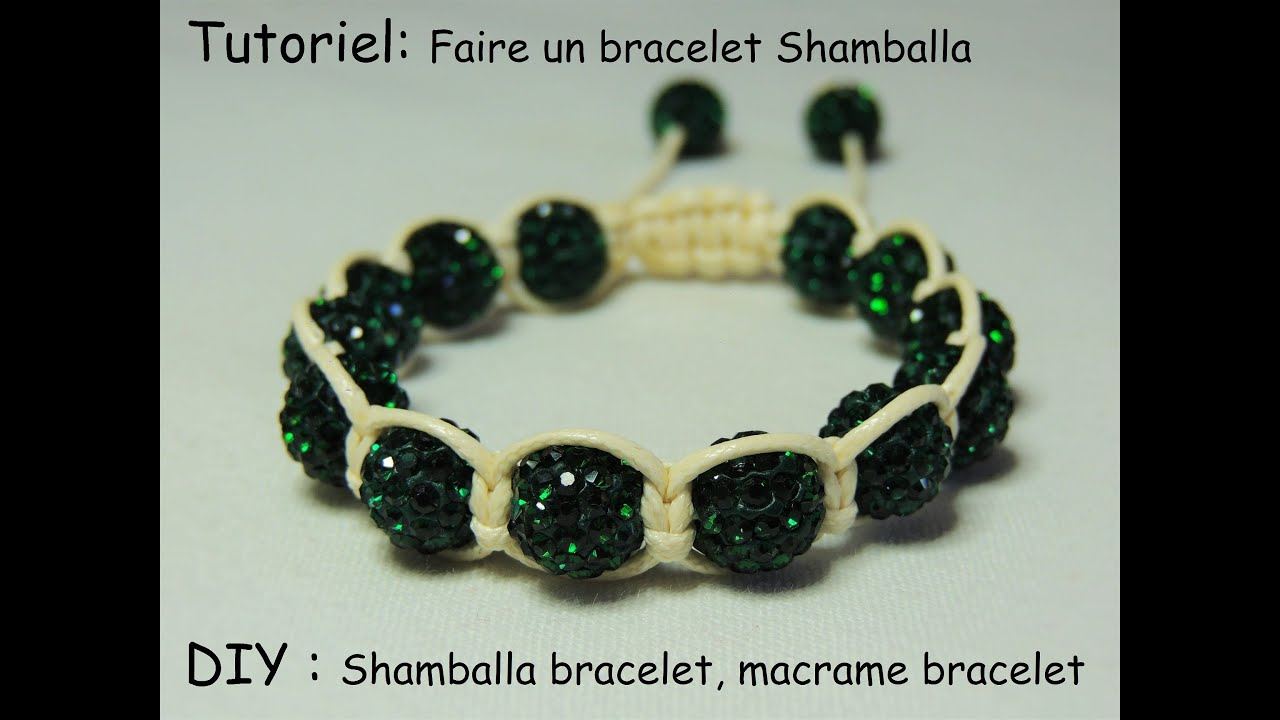 tutoriel faire un bracelet shamballa diy shamballa bracelet macrame bracelet youtube. Black Bedroom Furniture Sets. Home Design Ideas