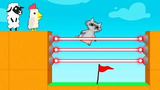 Touch LASER = LOSE In ULTIMATE CHICKEN HORSE! (Impossible)