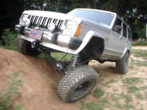 Jeep Cherokee Flex Test 6.5 Rough Country Long Arm Kit With 35u0027s