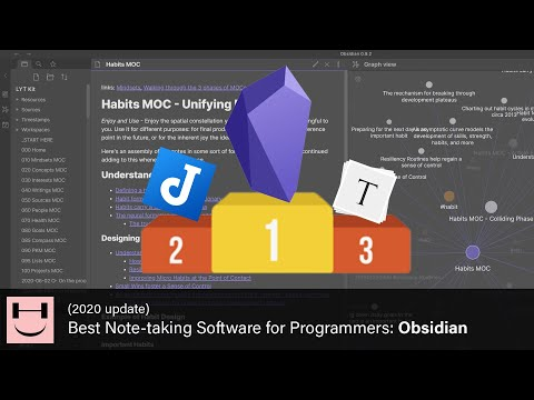 (2020 UPDATE) Best Note-taking Software for Programmers: Obsidian