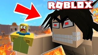 ATTACK ON TITAN IN ROBLOX!