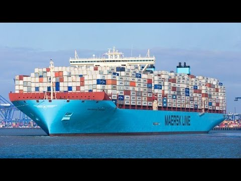 National geographic Documentary  -  Megastructures   -  Biggest Container Ships