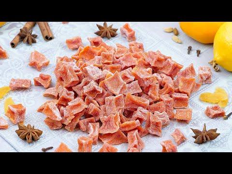 Вкусные цукаты из тыквы! Тыквенные цукаты в домашних условиях! Простой рецепт натуральных конфет!
