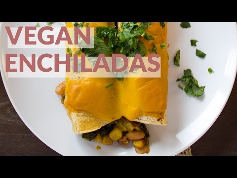Vegan Chipotle Sweet Potato Enchiladas