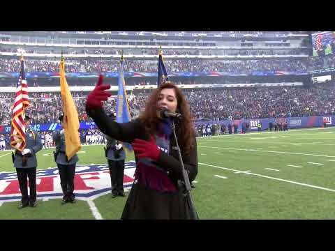 Mandy Harvey Thank you New York Giants for having me sing the National Anthem this past Sunday