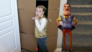 HELLO NEIGHBOR IN A BOX FORT MANSION!