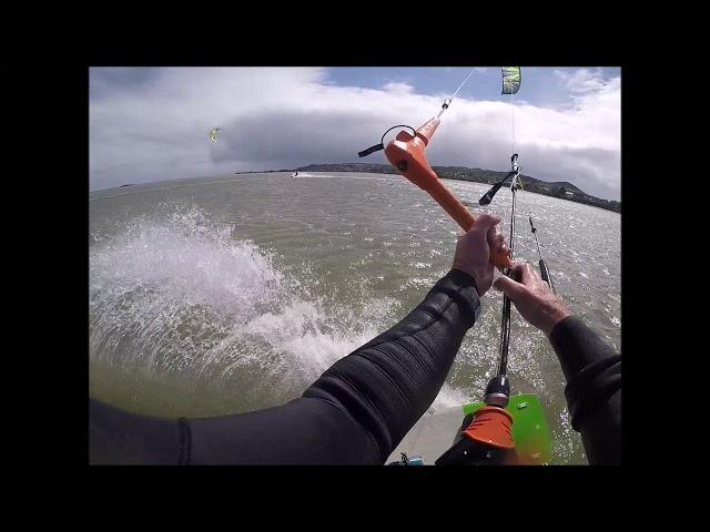 Kitesurfing Storm Hannah April 2019