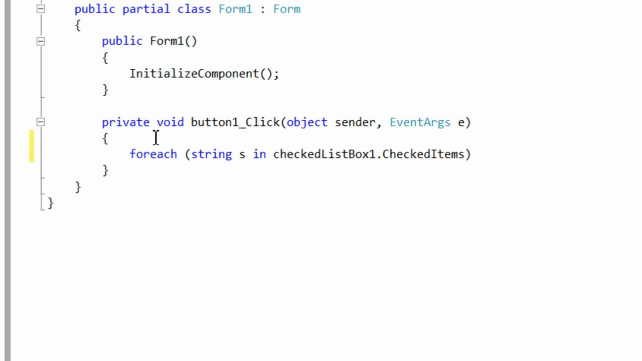 Get Checked Items In a CheckedListBox (C#  NET)