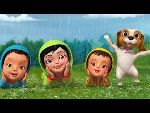 சட சட வென்று மழைத் துளி விழுகுது  மண்ணும் மணக்கிறதே | Tamil Rhymes for Children | Infobells