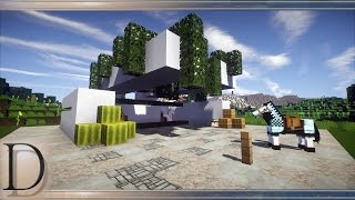 MINECRAFT PORADNIK - Jak zbudować stajnię modern 15x15