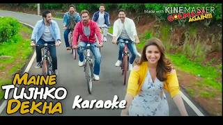 Maine Tujhko Dekha Karaoke With Lyrics | With Female Vocals | Neeraj Shridhar | Golmaal Again