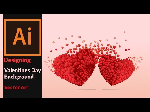 How To Draw A Beautiful  Valentines Day Card,  Background , Wall Paper