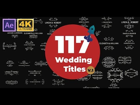 117 Wedding Titles Pack After Effects