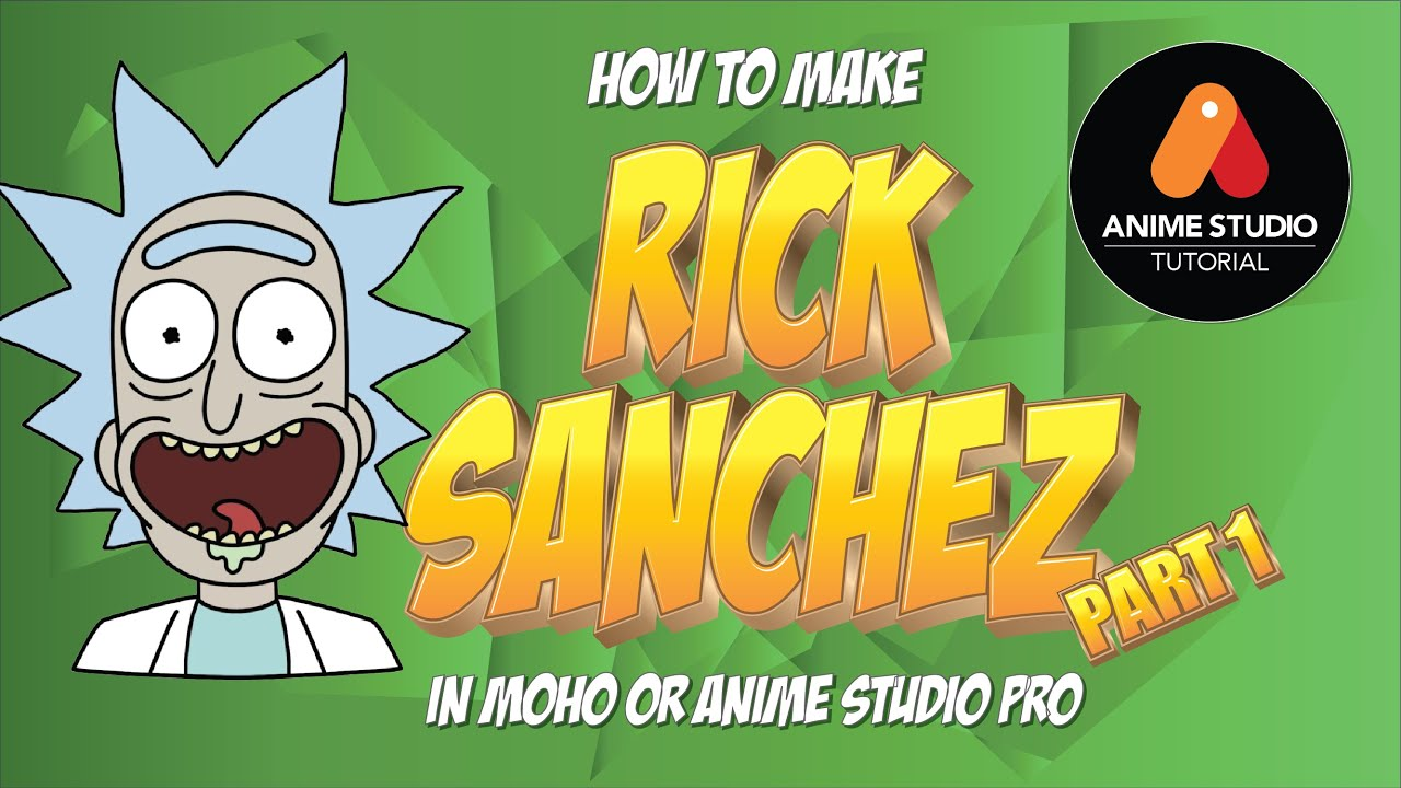 How to make Rick Sanchez in Anime Studio Pro 11 or MOHO Pro 12-13