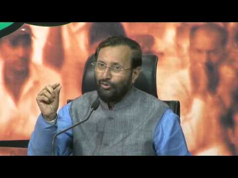 BJP Press by Shri Prakash Javadekar on hate campaign by Congress. Mp3