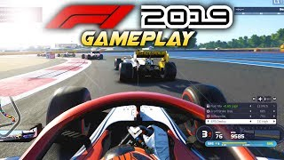 F1 2019 Exclusive Gameplay! Race at FRANCE with Kimi Räikkönen! (F1 2019 Game Alfa Romeo)