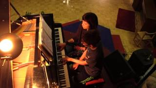 Duet with Kevin, an american boy - Sound of Silence - piano cover on grand piano