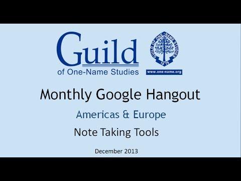 December North America & Europe Hangout