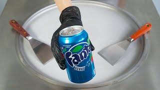 BLUE FANTA BERRY ICE CREAM ROLLS - SATISFYING FOOD ASMR