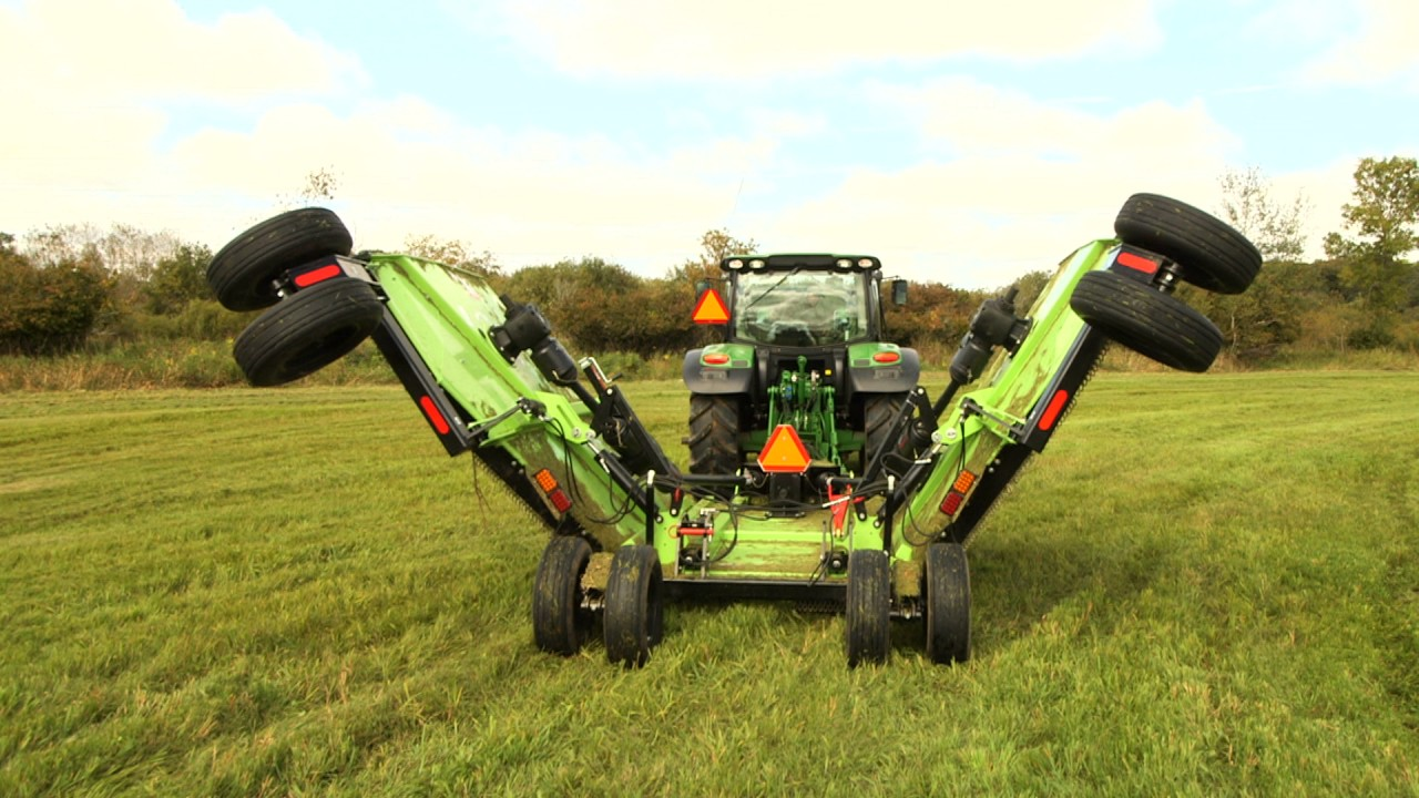 Quick Attach® Tractor 3 Point PTO Batwing Mower Implement