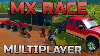 FARMING SIMULATOR 2015 | MX RACE | MULTIPLAYER | KLX 650 & RAPTOR 700