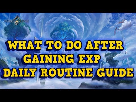 Daily Routine Guide After Gaining XP - World of Kings