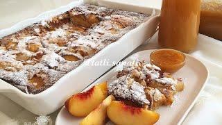Bol Şeftalili Yumuşacık Kek Tarifi | Tatlı Sanatı | Kek Tarifleri | Şeftalili Kek