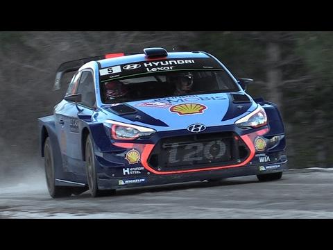 Hyundai i20 WRC 2017 Sound Neuville, Sordo Paddon In Action at Rallye Monte Carlo 2017