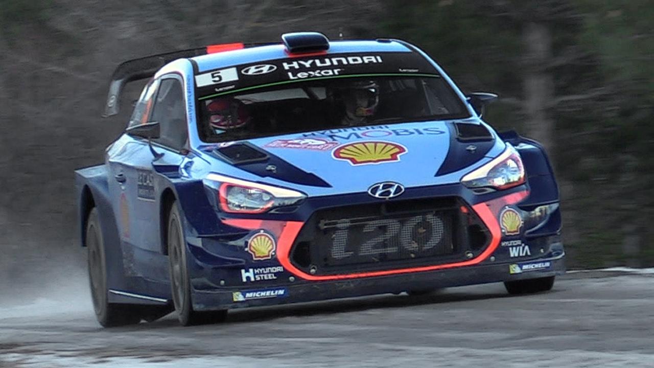 Hyundai i20 WRC 2017 Sound - Neuville, Sordo & Paddon In Action at Rallye  Monte Carlo 2017 - YouTube