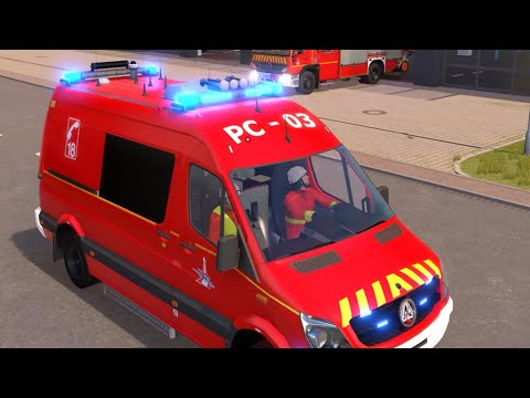 Emergency Call 112 - French Firefighters Responding! 4K