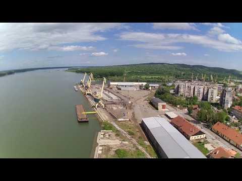 Danube, port Lom (14 April 2017 - Hubsan H501S)