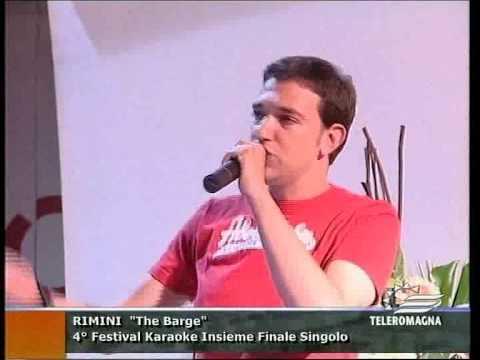 Piccola stella senza cielo - Ligabue (Marco Rossi) finale karaoke Barge di Rimini 06-06-2010