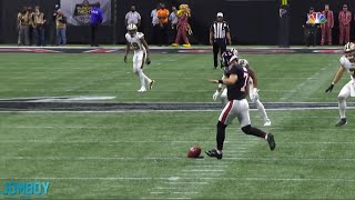 The Falcons recover three onside kicks in a row, a breakdown
