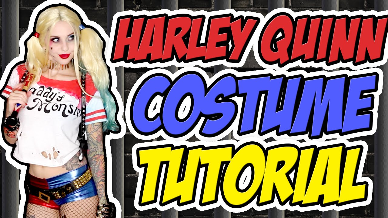 Harley Quinn Suicide Squad Costume Tutorial Halloween 2015 Youtube