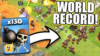NEW WORLD RECORD! - Clash Of Clans - HOW MANY WALL BREAKERS CAN WE GET!?