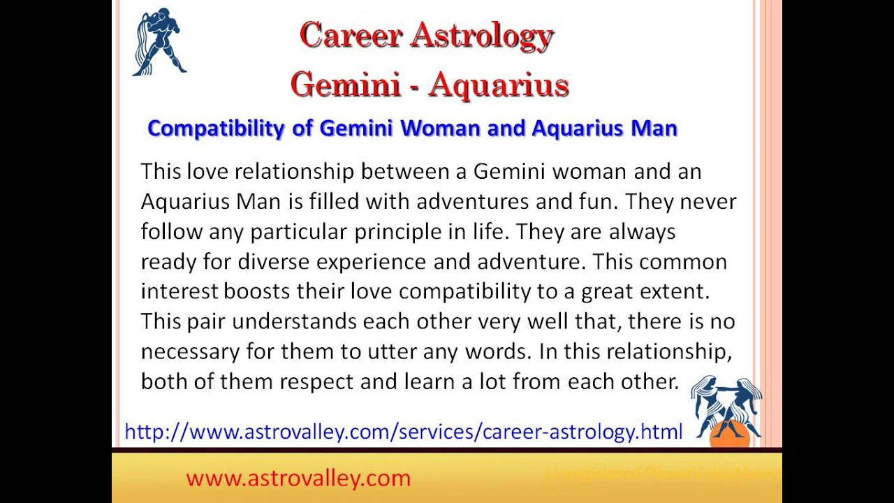 Gemini and Aquarius