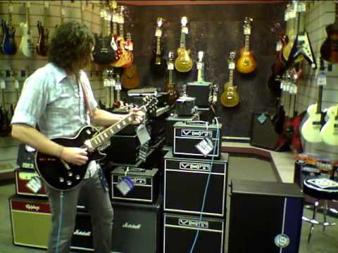 Micky Hardy giving a demo of some VHT amps | Music Stores in Springfield MO
