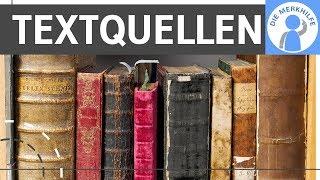 Textquellen in Geschichte – Reden, Briefe, Zeitungsartikel, Flugblätter, Text mit historischem Bezug