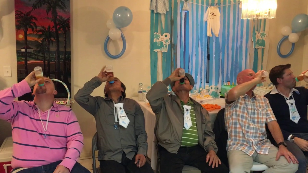 Funny Baby Shower Game For Men