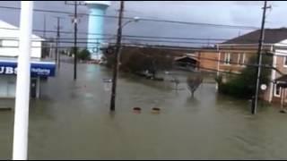 Rt. 35 in Lavallette NJ during Hurricane Sandy