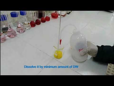 Preparation Of Potassium Chromate Indicator Solution