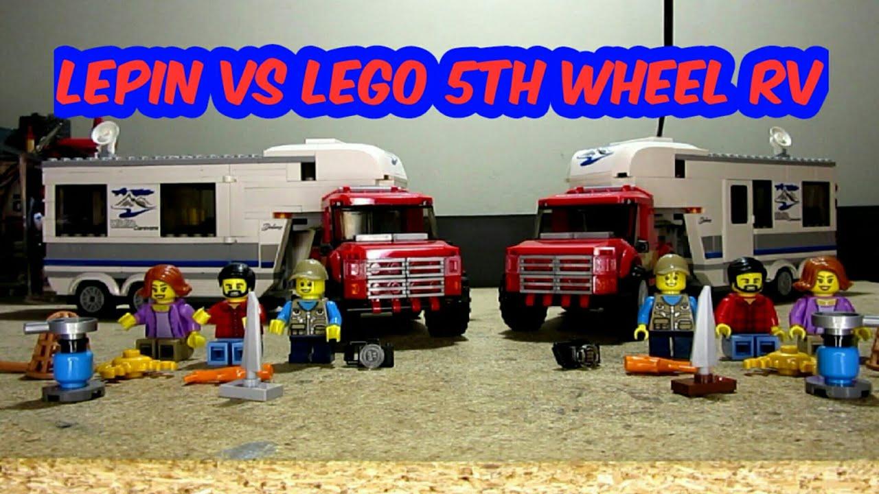 Lepin Vs Lego 5th wheel RV - YouTube
