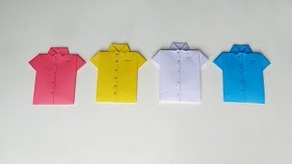 Origami Shirt: How to Make Easy Paper Shirt Card | DIY Paper Shirt (Father's Day Card)