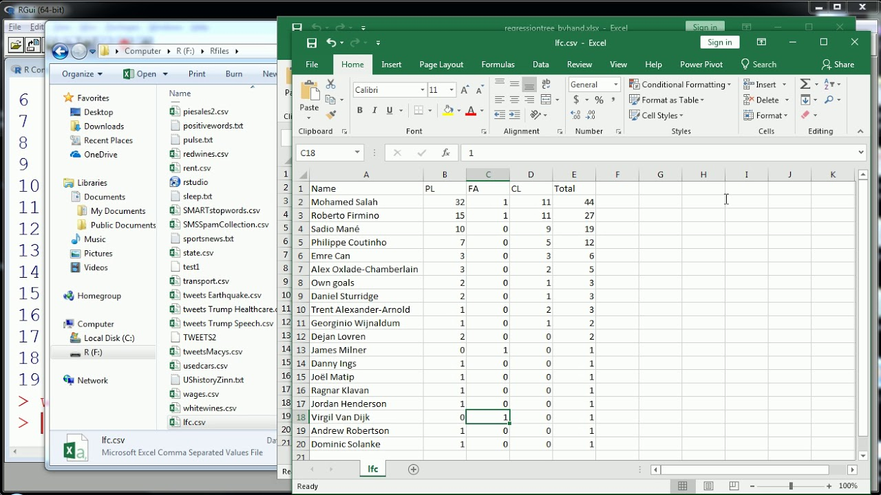 R - write CSV file with write table
